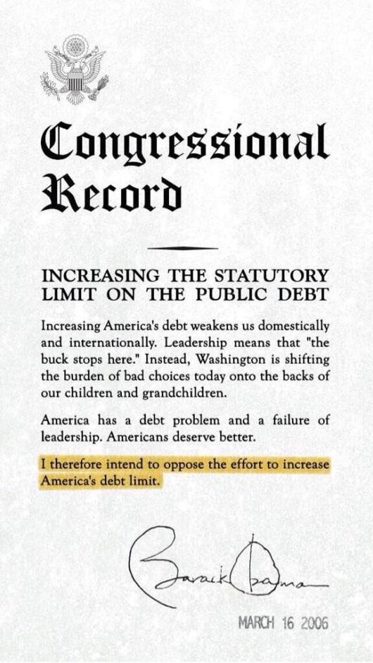 Obama Debt Ceiling